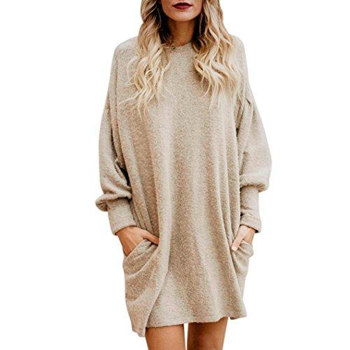 Amlaiworld Sweatshirts Winter Herbst locker Pullover Kleider Mode Sport Langarmshirt Ringel Damen Gemütlich Bluse Basic…