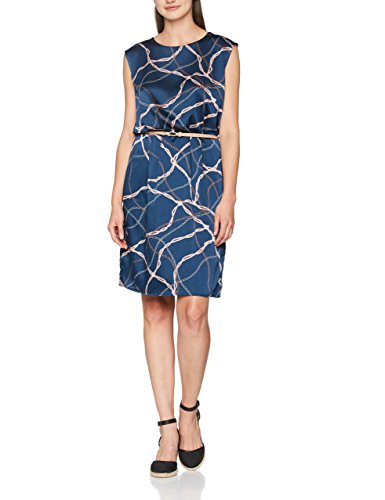 ESPRIT Collection Damen Kleid 077EO1E003, Blau (Navy 400), 40