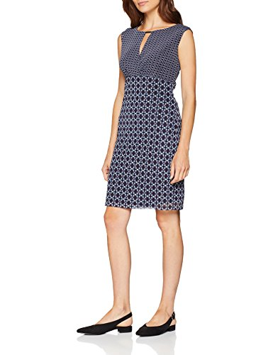 ESPRIT Collection Damen Kleid 078EO1E017, Blau (Navy 400), Large