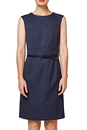 ESPRIT Collection Damen Kleid 088EO1E004, Blau (Navy 400), 36