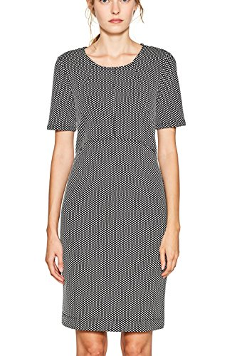 ESPRIT Collection Damen Kleid 097EO1E023, Mehrfarbig (Black 001), XX-Large