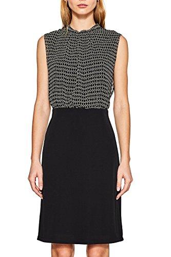 ESPRIT Collection Damen Kleid 097EO1E041, Schwarz (Black 2 002), 38