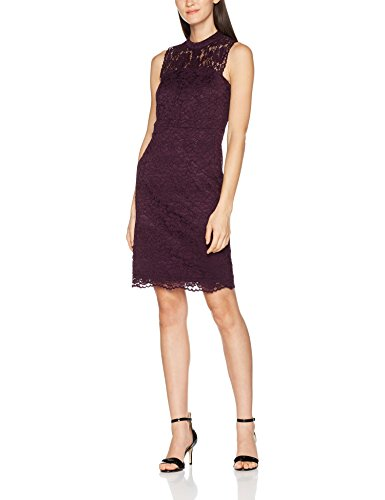 ESPRIT Collection Damen Kleid 107EO1E016, Violett (Dark Purple 500), 36