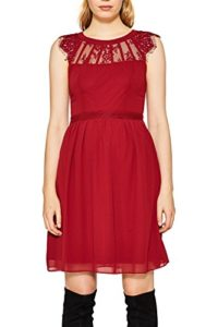 ESPRIT Collection Damen Kleid 117EO1E049, Rot (Dark Red 610), 36