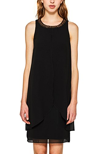 ESPRIT Collection Damen Partykleid 117EO1E017, Schwarz (Black 001), 42