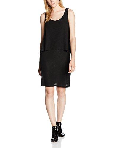 ESPRIT Damen Kleid 076EE1E011, Schwarz (Black 001), 36 (Herstellergröße: S)