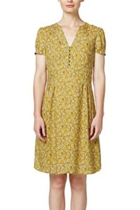ESPRIT Damen Kleid 078EE1E006, Mehrfarbig (Honey Yellow 710), 34