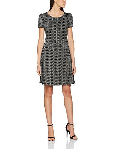 ESPRIT Damen Kleid 087EE1E002, Mehrfarbig (Black 001), X-Large