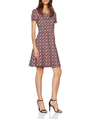 ESPRIT Damen Kleid 088EE1E023, Mehrfarbig (Dark Red 610), Medium