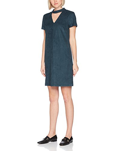 ESPRIT Damen Kleid 097EE1E005, Grün (Dark Teal Green 375), 38