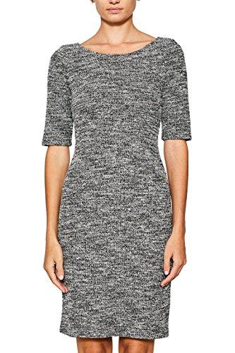 ESPRIT Damen Kleid 097EE1E017, Mehrfarbig (Black 001), Large