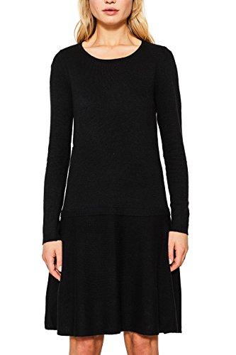 ESPRIT Damen Kleid 107EE1E004, Schwarz (Black 001), Medium