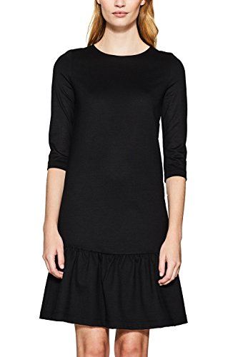 ESPRIT Damen Kleid 117EE1E026, Schwarz (Black 001), Medium