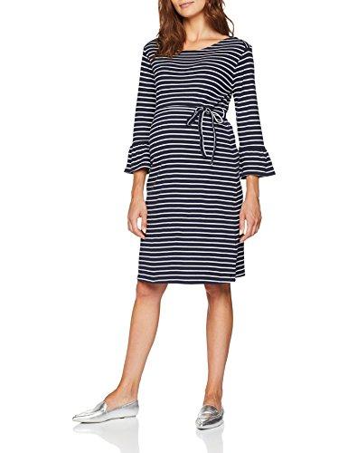 ESPRIT Maternity Damen Kleid Dress 3/4 SLVS yd, Mehrfarbig (Night Blue 486), 38 (Herstellergröße: M)
