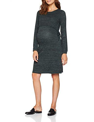 ESPRIT Maternity Damen Kleid Dress Nursing ls, Grün (Urban Olive 371), 42 (Herstellergröße: XL)