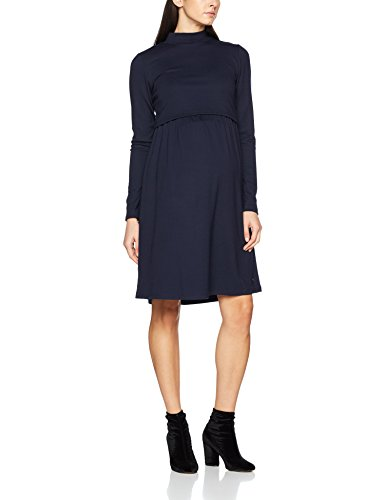 ESPRIT Maternity Damen Umstandskleid Dress Nursing Ls X1784260, Blau (Night Blue 486), 44 (Herstellergröße: XXL)