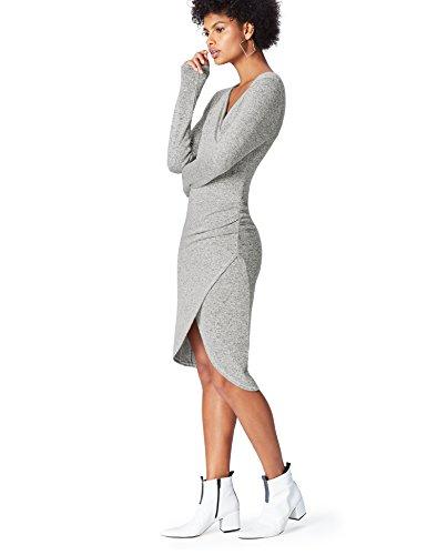 Amazon-Marke: find. Damen Kleid mit Rüschendetail