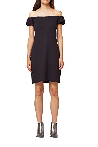 edc by ESPRIT Damen Kleid 078CC1E007, Schwarz (Black 001), Large