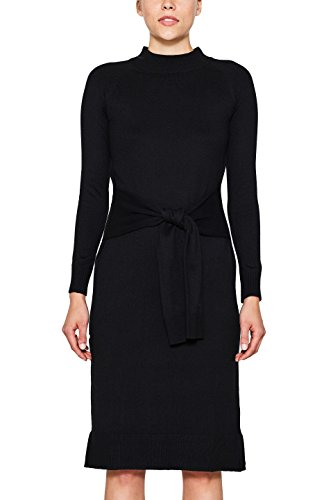 edc by ESPRIT Damen Kleid 107CC1E008, Schwarz (Black 001), X-Large