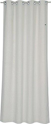 ESPRIT Ösen Vorhang rosa Blickdicht • Gardinen Vorhang 2er Set • Ösenschal 140 x 250 cm Harp • 100% Polyester