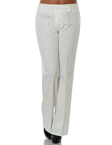 Damen Business Hose Stoffhose Straight Leg DA 15709