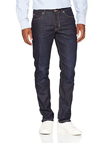 H.I.S Cliff Jeans in Slim Fit für Herren / Dunkelblaue Jeans mit lässiger Passform und festem Stoff für kalte Tage / Hose in Größe