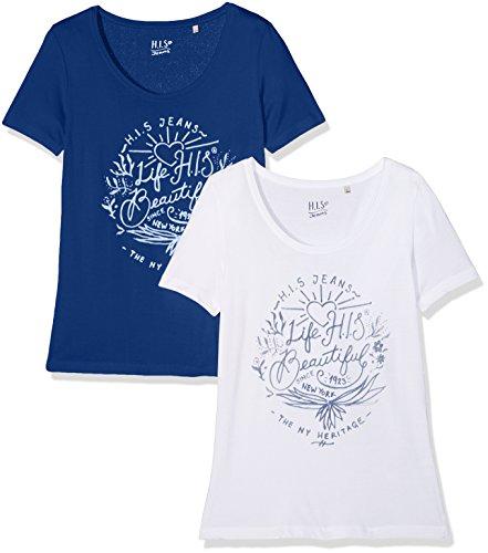 H.I.S Damen Doppelpack T-Shirt (2er Pack)