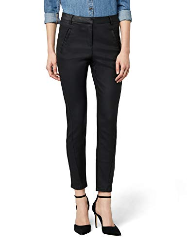 VERO MODA Damen Hose Vmvictoria Nw Antifit Coated Pants Noos