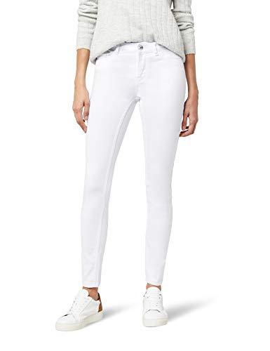 VERO MODA Damen Slim Jeans Vmseven Nw S Shape Up White Noos