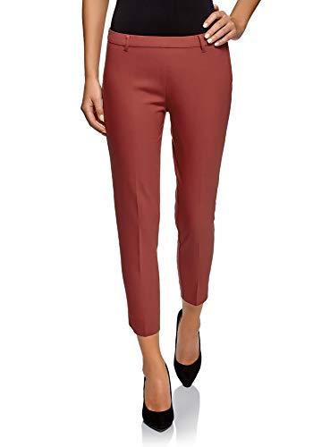 oodji Collection Damen Eng Zulaufende Hose mit Reißverschluss an der Seite