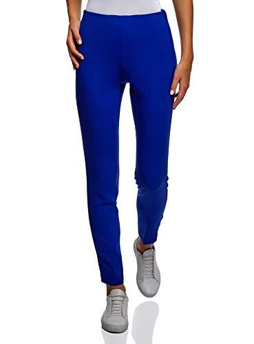 oodji Collection Damen Enge Hose mit Reißverschluss an der Seite