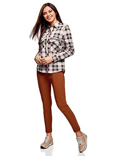 oodji Ultra Damen Enge Hose mit Zierreißverschlüssen