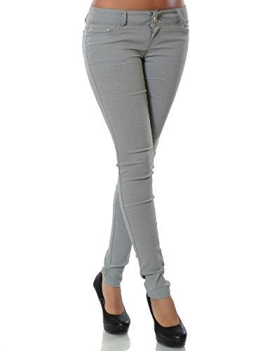Damen Hose Treggings Skinny Röhre DA 14205