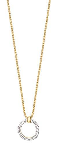 ESPRIT Glamour Damen-Kette mit Anhänger ES-PERIBESS teilvergoldet Zirkonia