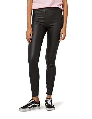 FIND Damen Skinny Fit-Hose mit Ledereffekt