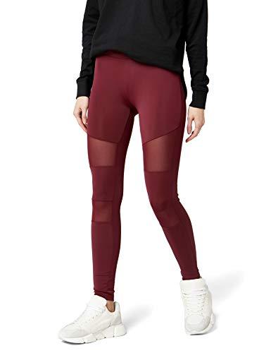 Urban Classics Damen Leggings Tech Mesh Yoga-Fitness-Hose, lange Streetwear- & Sporthose mit Netzeinsätzen