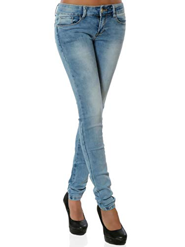 Damen Skinny Jeanshose Push-Up Stretch DA 15955