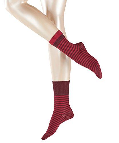 ESPRIT Damen Fold Stripe Socken - 1 Paar, Größe 35-42, versch. Farben, 83% Baumwolle - Ringelstrümpfe aus weicher…