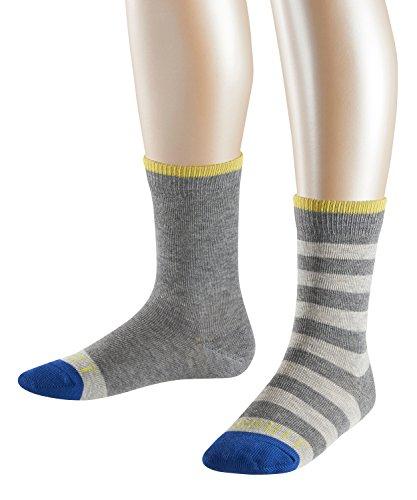 ESPRIT Kinder Stripe Logo Socken - 2 Paar, Größe 23-42, versch. Farben, 81% Baumwolle - Stümpfe mit modischem…