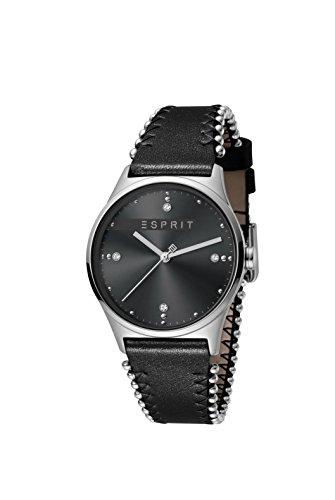 Esprit Damen Analog Quarz Uhr mit Leder Armband ES1L032L0025