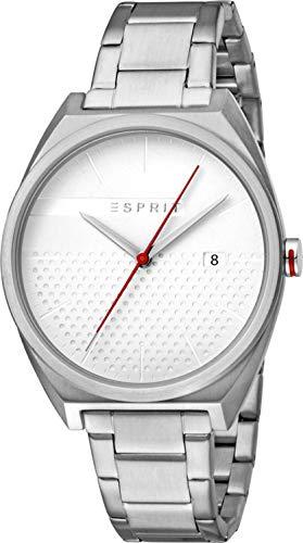 Esprit Herren Analog Quarz Uhr mit Edelstahl Armband ES1G056M0055