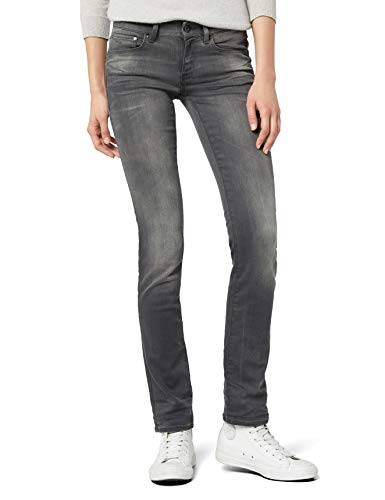 G-STAR Damen Attacc Mid Straight Jeans  - slander superstretch