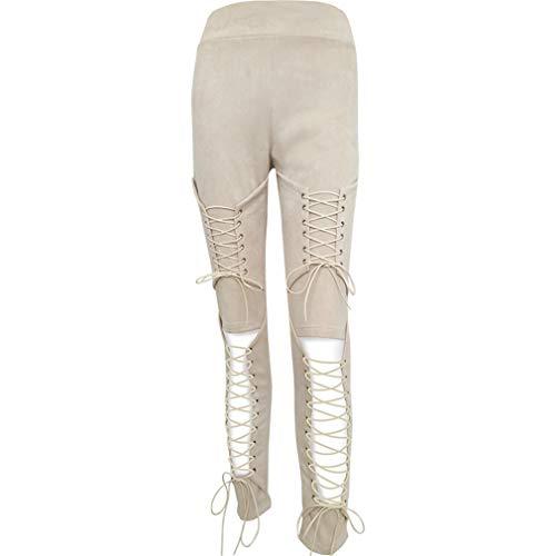 LnLyin Jeans Stretch Hose Zerrissen High Waist Jeanshose Skinny Hochbund Hose Damen Mädchen Frauen