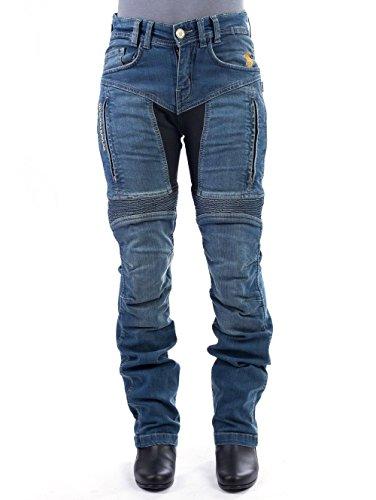 Trilobit Motorrad Damen Jeans,schwarz, 26