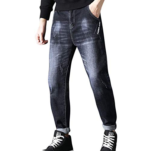 UFODB Jeans Pants for Men, Herren Destroyed Jeans-Hose Straight Leg Chino Pant Lang Trousers Freizeithose Tapered Fit…