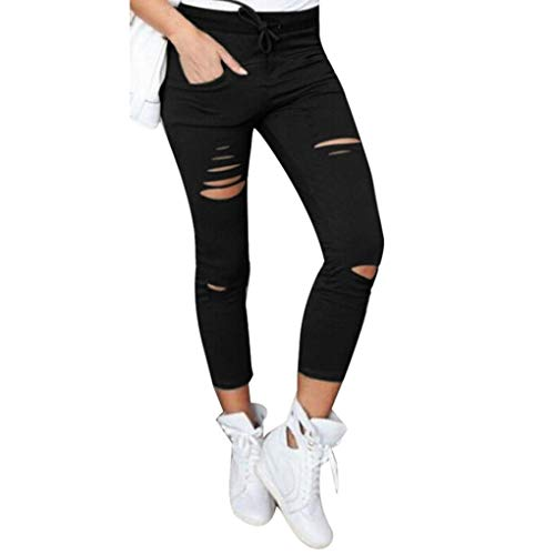 Xinan Damen Yoga Hose Women Skinny Ripped Pants High Taille Stretch Slim Bleistift Hose