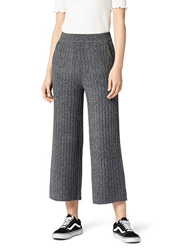 Amazon-Marke: find. Damen Hose Cropped Ribbed Trouser