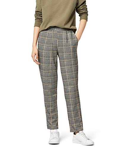 Amazon-Marke: find. Damen Hose Soft Check Tapered