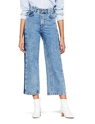 find. Damen Kurz geschnittene Jeans weitem Bein