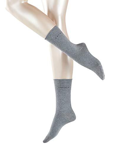 ESPRIT Basic Pure 2-Pack Damen Socken mit hohem Baumwollanteil